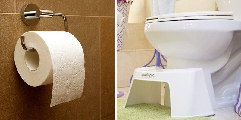 EasyGopro Ergonomic Toilet Stool in the use