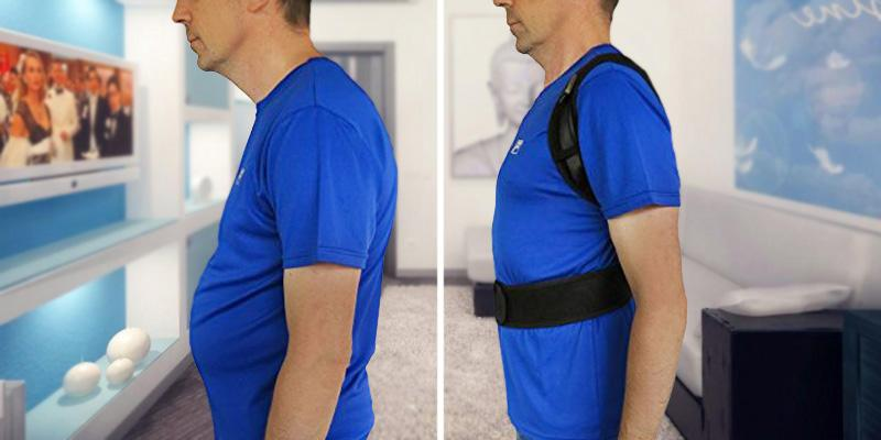 Comfy Med Shoulder Alignment Brace Posture Corrector in the use