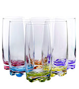 Red Co. Water Highball Glasses