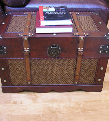Review of Styled Shopping Boston Wood Chest Steamer Trunk