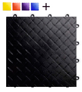 RaceDeck RD12BLAK Durable Interlocking Modular Garage Flooring Tile (48 Pack)