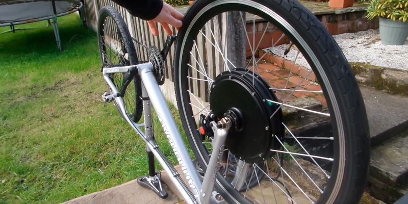 Jaxpety 26 E Bike Front Wheel Ebike Hub Motor Conversion Kit In The Use