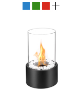 Regal Flame ET7001BLK Eden Ventless Tabletop Bio Ethanol Fireplace