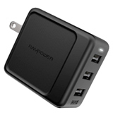 RAVPower US RP-PC094 (B) 3-Port USB Wall Charger (30W)
