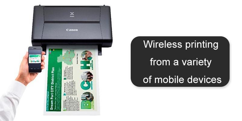Canon PIXMA iP110 Wireless Mobile Inkjet Printer in the use