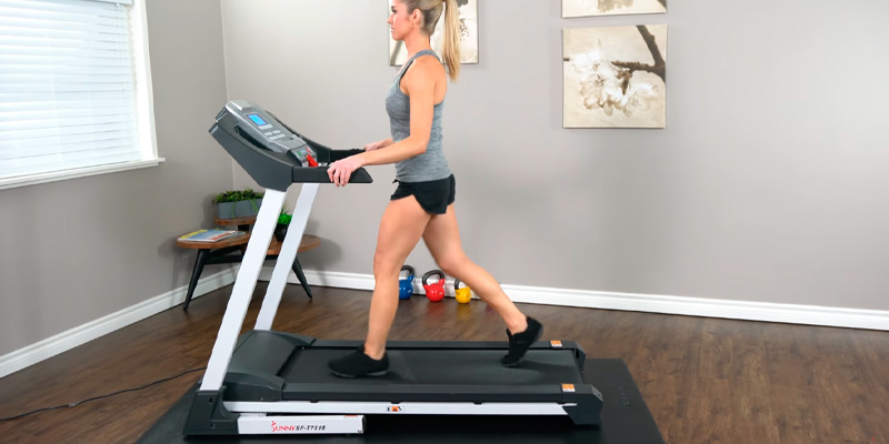 Review of Sunny Health & Fitness SF-T7515 Smart Folding Treadmill