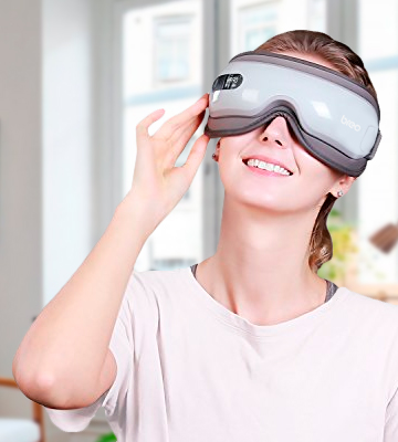 Review of Breo iSee16 Eye Massager Cordless Eye Compress Mask with Air Pressure
