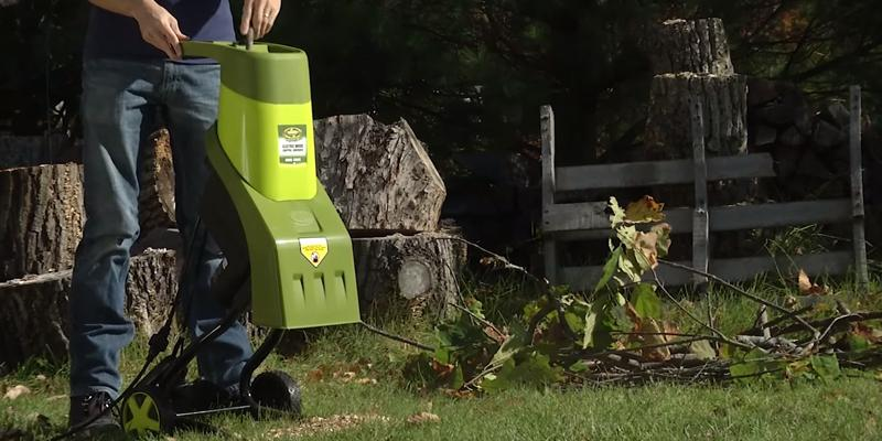 Sun Joe CJ601E Electric Wood Chipper/Shredder in the use