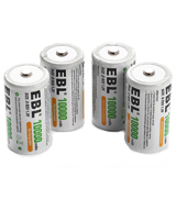 EBL High Capacity Rechargeable D Batteries