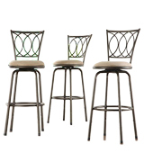 Home Creek Adjustable Swivel Barstools