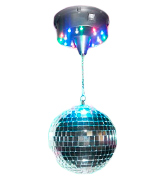Adkins Professional lighting AL-DISM8 8 Mirror Ball with Motor and Colored LED lights
