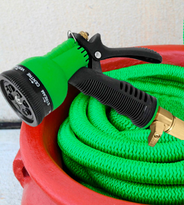 Review of Flexi Hose 3/4 Solid Brass Fittings Expandable Garden Hose