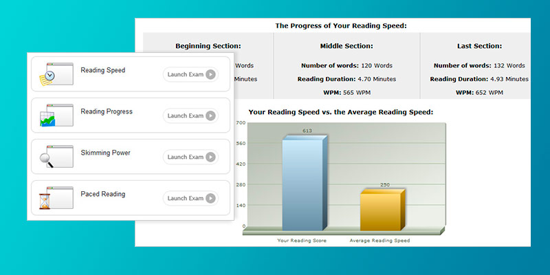 Fastreaders Speed Reading Software in the use