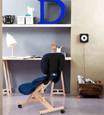 Review of Flash Furniture Mobile Wooden Ergonomic Kneeling Posture Chair