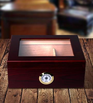 Review of Mantello Cigars GLASSTOP Desktop Royale Humidor