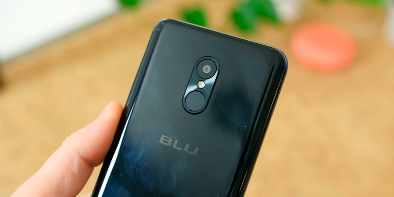 BLU Pure View Display Smartphone with Dual Front Selfie Cameras in the use