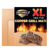 GrillShield Extra Large Set of 2 Copper Grill and Bake Mats