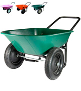 Marathon Industries Dual-Wheel Residential Yard Rover Wheelbarrow and Yard Cart
