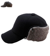 SIGGI Winter Wool Baseball Cap Earflap Fitted Hat