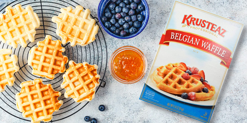 Review of Krusteaz Belgian Waffle Mix Foodservice Bag