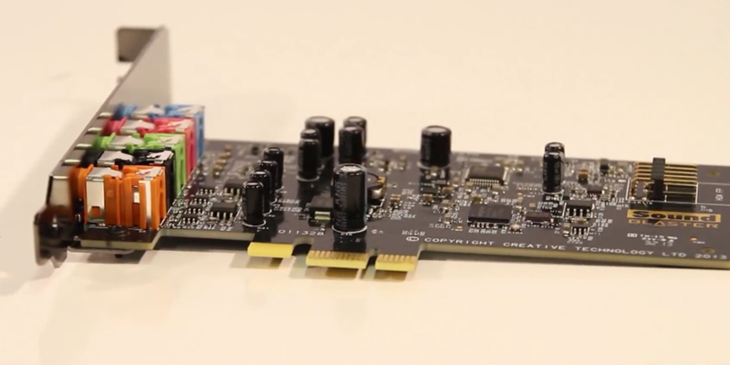 Creative SB1570 Audigy FX PCIe 5.1 Sound Card with High Performance Headphone Amp in the use