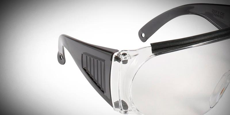 Allen Company Fit-Over Shooting Safety Glasses in the use