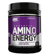 Optimum Nutrition 1043712 Amino Energy, Concord Grape, Preworkout and Essential Amino Acids