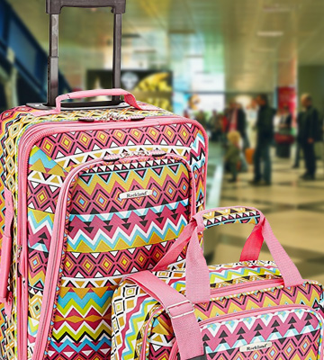 Review of Rockland F102-PINK 2 piece Soft side Luggage Set