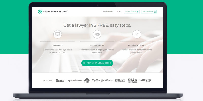 Review of Legal Services Link Get A Lawyer In 3 Easy Steps