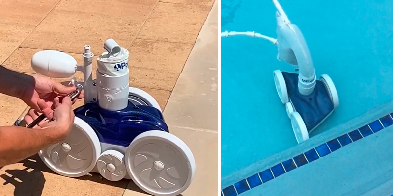 Polaris Vac-Sweep 280 Pressure Side Pool Cleaner in the use