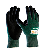 MaxiFlex (3 Pack) 34-8743 Premium Nitrile Coated Cut Resistant Work Gloves