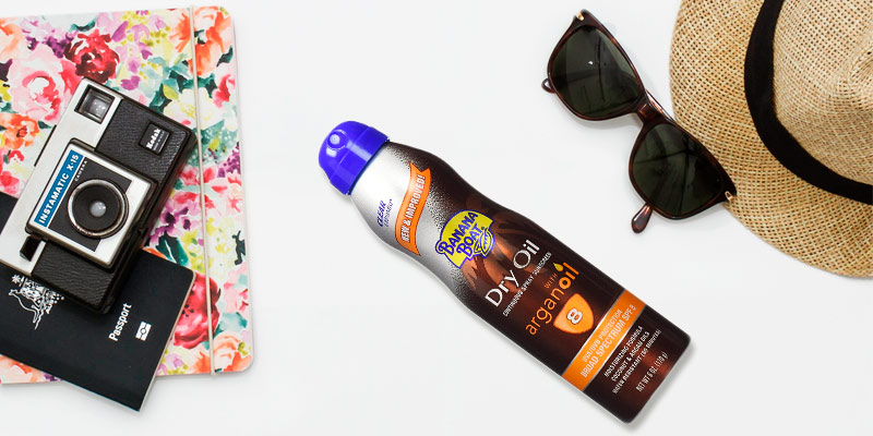 Review of Banana Boat SPF 8 Dry Oil Spray with Arganoil