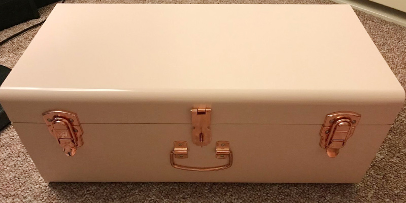 Review of Beautify Metal Storage Trunk Set Gray Vintage Style with Rose Gold Handles
