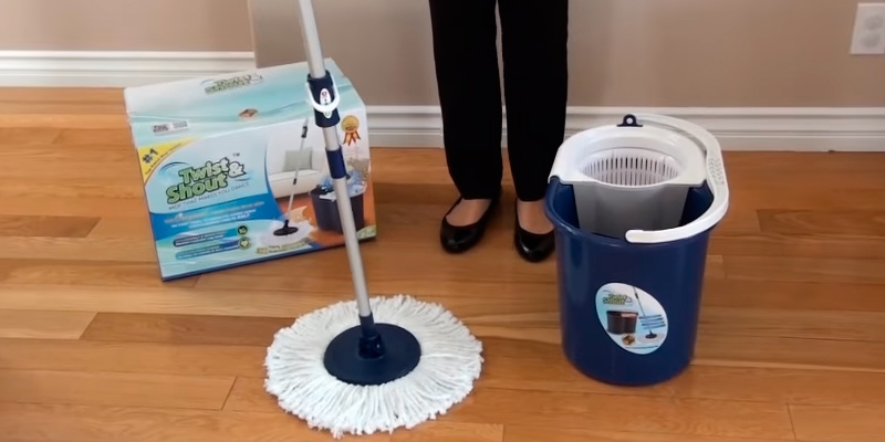 Review of Twist and Shout Mop TNSM-T1 Hand Push Spin Mop, Life Time Warranty