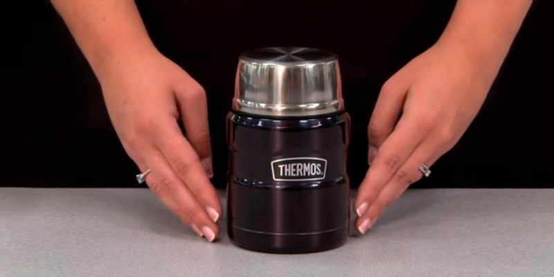 Review of Thermos 16 oz Stainless King Food Jar with Folding Spoon
