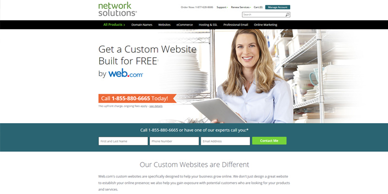 Network Solutions Website Creator in the use