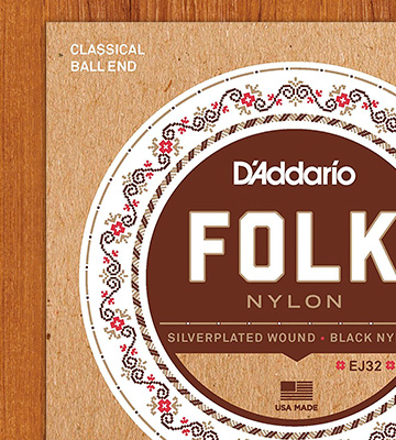 Review of D'Addario EJ32 Folk Nylon Guitar Strings