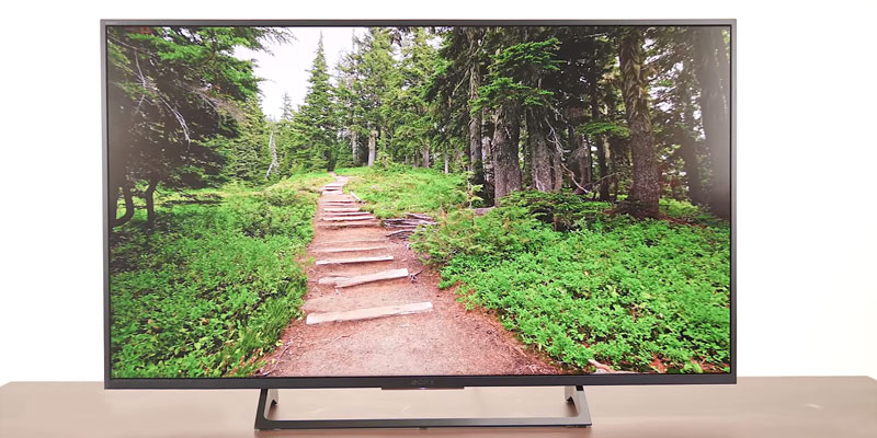 Sony KD55X720E 55-Inch 4k Ultra HD Smart LED TV in the use