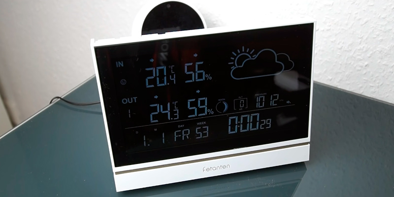 Review of Fetanten Wireless Weather Station With Outdoor Sensor DCF Receive Signal