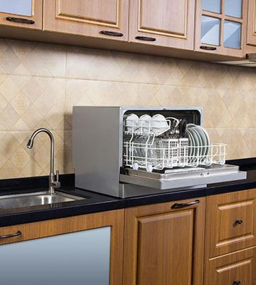 Review Of Magic Chef 6 Place Settings Countertop Dishwasher White