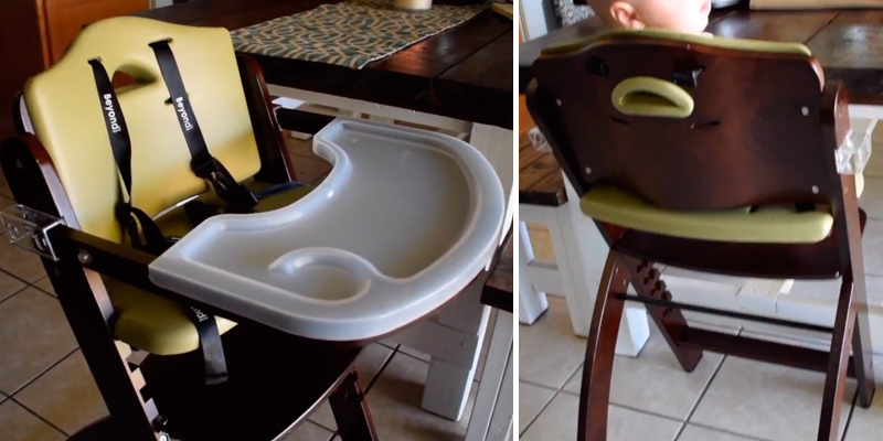 Review of Abiie Beyond Wooden High Chair With Tray