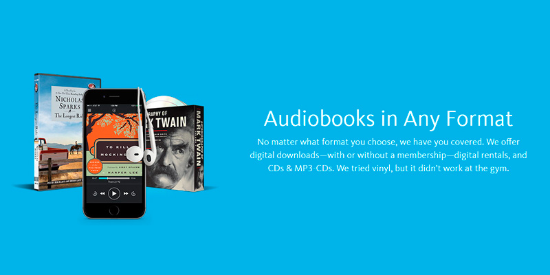 Downpour Audiobooks in the use