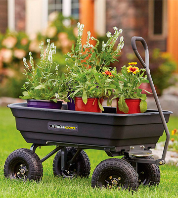 Review of Gorilla Carts GOR4PS Poly Garden Dump Cart with Steel Frame and 10-in. Pneumatic Tires