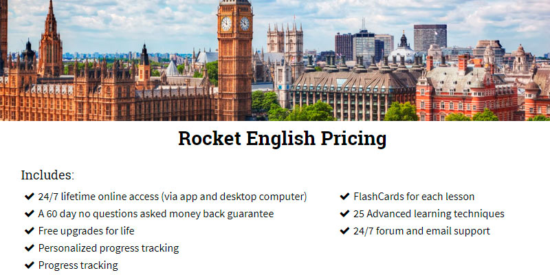 Detailed review of Rocket Languages English Online Course