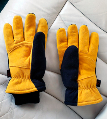 Review of OZERO Deerskin Suede Leather and Windproof Membrane Cold Proof Thermal Gloves