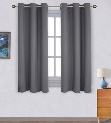 Review of NICETOWN FBA_NTGMBLKSLD24263C1 Thermal Insulated Grommet Blackout Curtains