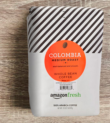 Review of AmazonFresh Colombia Whole Bean Coffee, Medium Roast