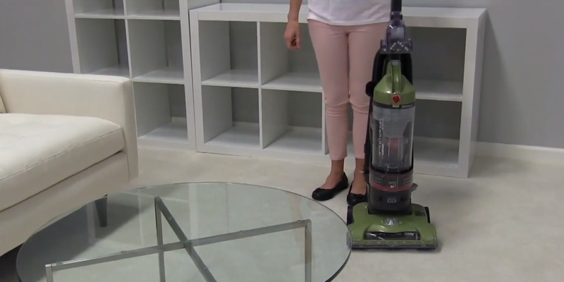 Hoover UH70120 T-Series WindTunnel Rewind Plus Bagless Upright Vacuum in the use
