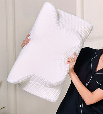 Review of Coisum Cervical Pillow Contour Pillow for Back Sleepers