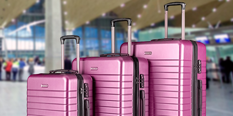 "Review of LEMOONE Luggage 3 Piece Set Pink Hard Shell Suitcase Lightweight, 20"", 24"", 28"""